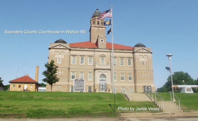 Saunders cnty NE courthouse in Wahoo Photo by Jamie Vesay WM LBLD DSCF6172