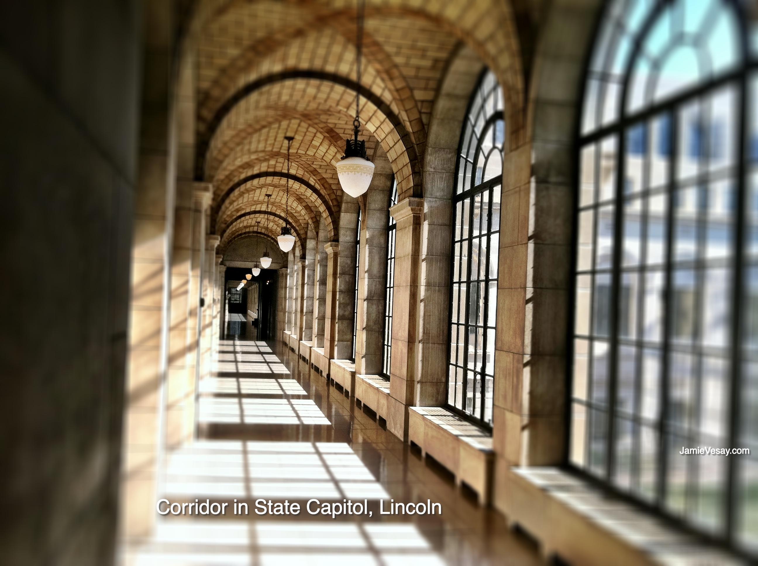 Lincoln Capitol walkway 2011 Jamie Vesay WM LBLD treated IMG_1888