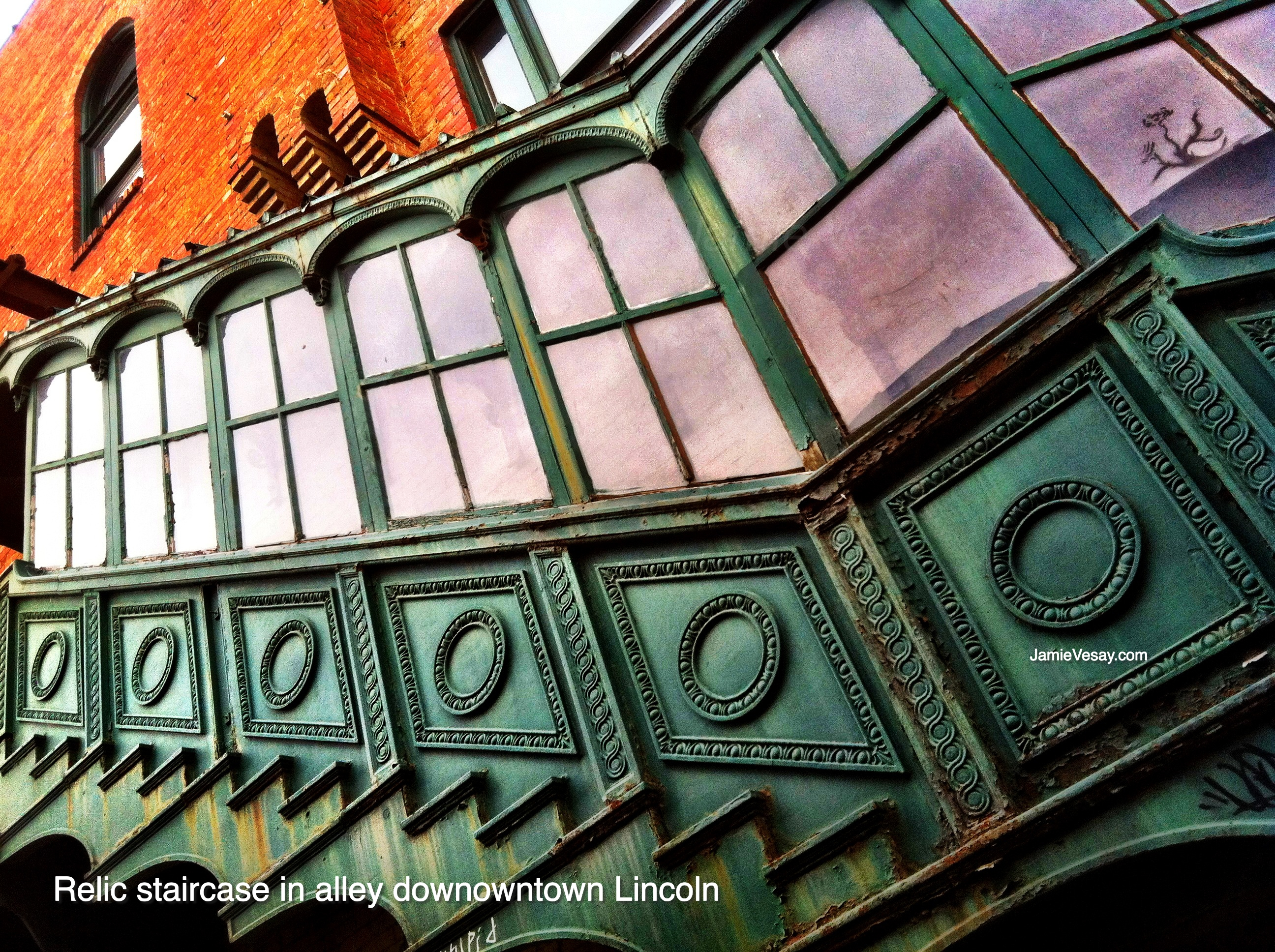 Lincoln encased staircase 2012 Jamie Vesay WM LBLD treated IMG_4846
