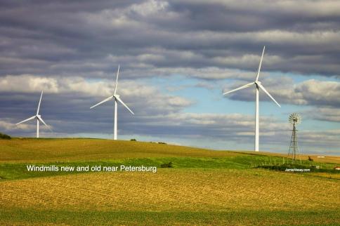 Windmills and old one near Petersburg Jamie Vesay WM LBLD treated IMG_5281