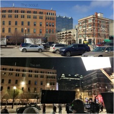 Downsizing filming April 2016