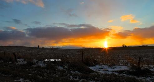 Sunset over farmland Nov 2014 Jamie Vesay JVdotcom WM IMG_5912 - Version 3