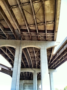 Under the overpass in Omaha