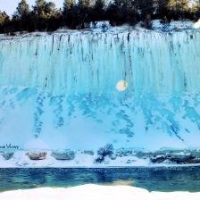 Niobrara river blue ice wall