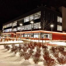 Community college Bldg winter night