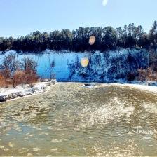 Icy Niobrara river in February